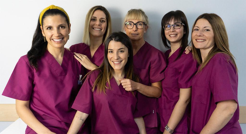 equipo clínica dental en Roquetes